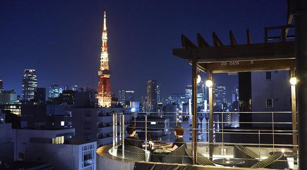 Drinks @ a Stylish Bar in Azabu with a Gorgeous Pool & View :)