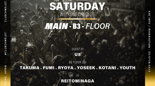 2019.8.24.SAT WEEKEND CAMELOT -SATURDAY-