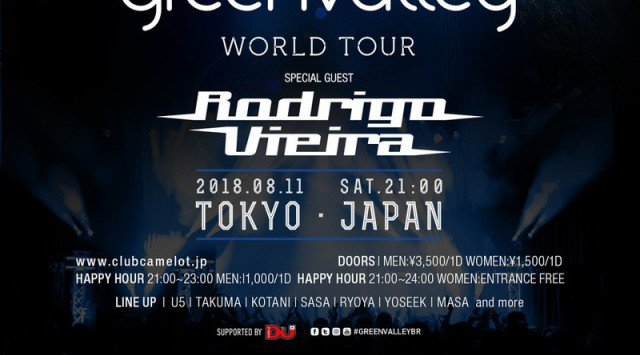 2018.8.11.SAT Green Valley World Tour @ CAMELOT Supported by DJ MAG